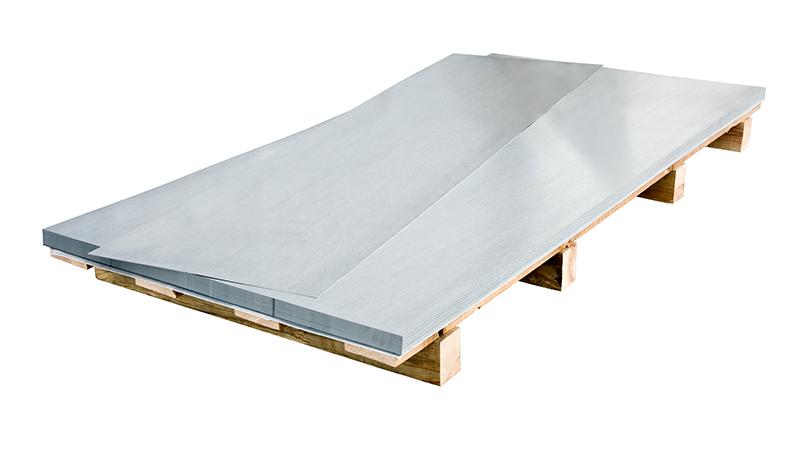 Chapa de aluminio anodizada y lacada